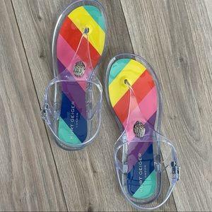 NEW! Kurt Geiger Rainbow Sandal